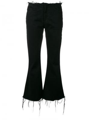 Укороченные расклешенные брюки Marquesalmeida Marques'almeida. Цвет: чёрный