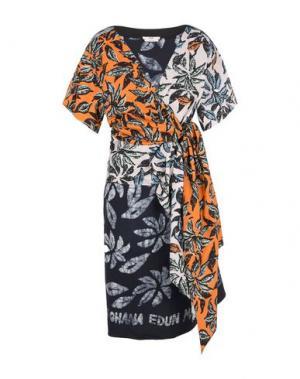 Платье до колена EDUN. Цвет: голубиный серый