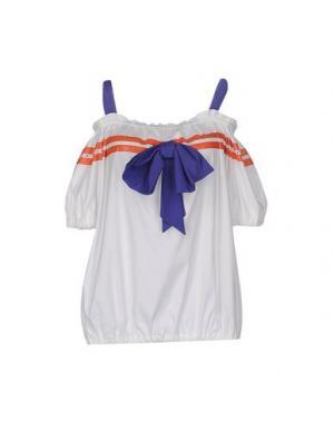 Блузка GAI MATTIOLO JEANS. Цвет: белый