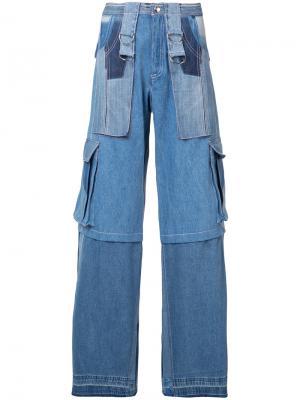 Джинсы с накладными карманами Misbhv. Цвет: синий