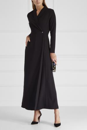 Однотонное платье Cyrille Gassiline. Цвет: черный
