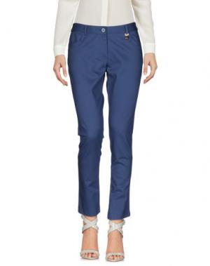 Повседневные брюки KORALLINE. Цвет: синий