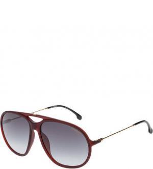 Солнцезащитные очки с градиентными линзами Carrera. Цвет: бордовый