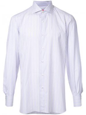 Рубашка в полоску Isaia. Цвет: синий