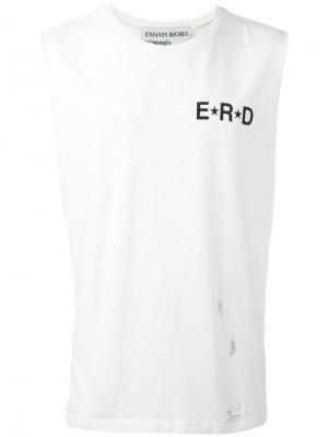 Топ с логотипом Enfants Riches Déprimés. Цвет: белый