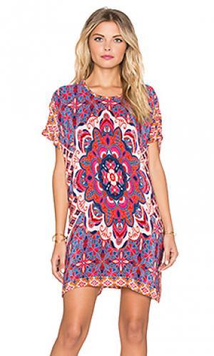Мини платье tiffany Tolani. Цвет: розовый