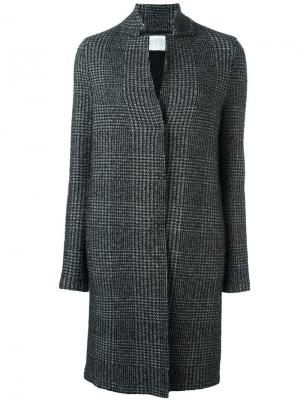 Пальто в клетку Harris Wharf London. Цвет: чёрный