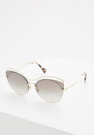 Очки солнцезащитные Miu. Цвет: золотой