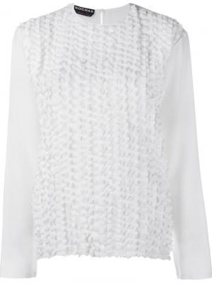 Блузка с оборками Rochas. Цвет: белый