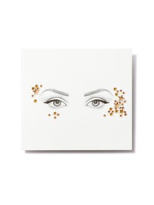 Клеящиеся кристаллы для лица Crystalzzz Stars in Gold Miami Tattoos. Цвет: золотистый