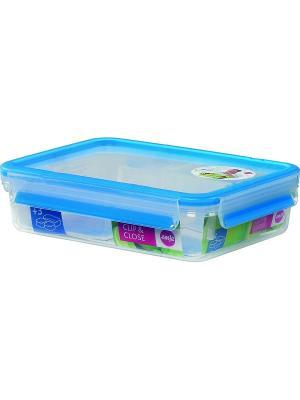 Контейнер EMSA CLIP&CLOSE пластик 1.2л со шкалой. Цвет: прозрачный