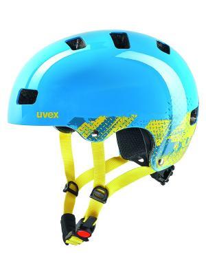 Шлемы Uvex. Цвет: голубой, желтый