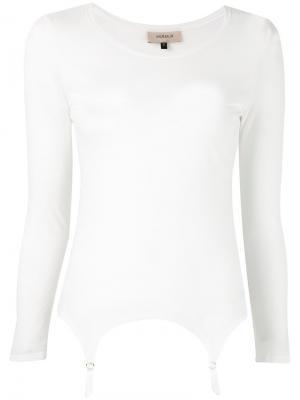 Футболка Suspender Murmur. Цвет: белый
