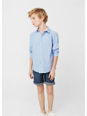 Рубашка - PLANE8 Mango kids. Цвет: синий