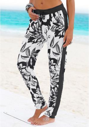 Пляжные брюки Buffalo London. Цвет: черный/белый