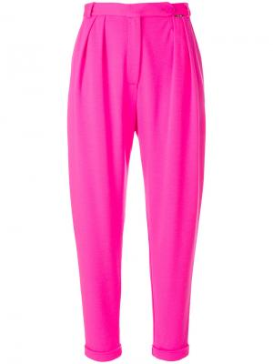 Укороченные зауженные брюки Styland. Цвет: розовый и фиолетовый