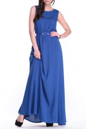 Платье MAURINI. Цвет: электрик