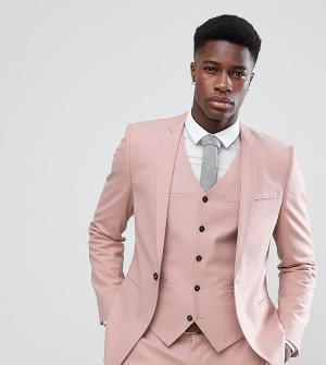 Noak Облегающий пиджак с ровным краем. Цвет: розовый