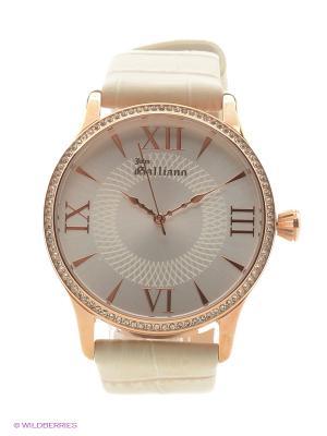Часы наручные Galliano. Цвет: бежевый