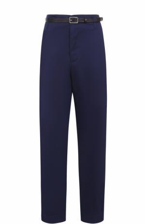 Укороченные брюки с  завышенной талией и поясом Golden Goose Deluxe Brand. Цвет: синий