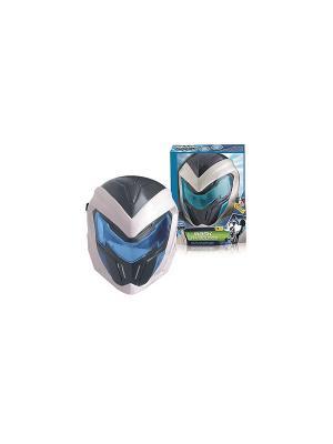 Маска Max Steel со звуком, на батарейках, в коробке IMC toys. Цвет: белый, синий, голубой