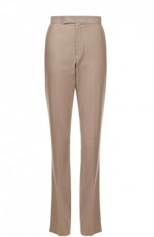 Шерстяные расклешенные брюки со стрелками Ralph Lauren. Цвет: серый