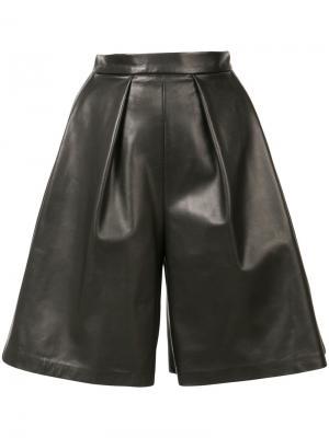 Расклешенные шорты Novis. Цвет: чёрный