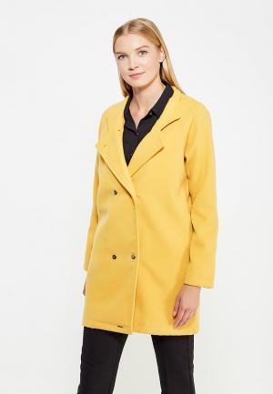 Полупальто Coquelicot. Цвет: желтый