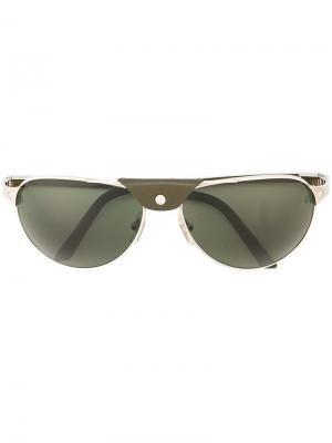 Солнцезащитные очки Santos Dumont Cartier. Цвет: зелёный