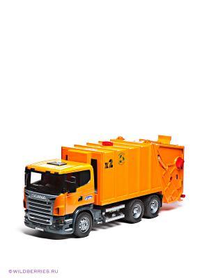 Мусоровоз Scania Bruder. Цвет: оранжевый