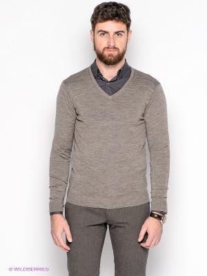 Пуловер SELECTED. Цвет: серо-коричневый