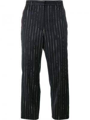 Укороченные брюки в полоску Golden Goose Deluxe Brand. Цвет: синий