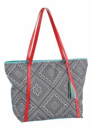 Пляжная сумка. Цвет: черный/белый