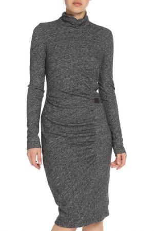 Облегающее платье-водолазка Apanage. Цвет: мультиколор