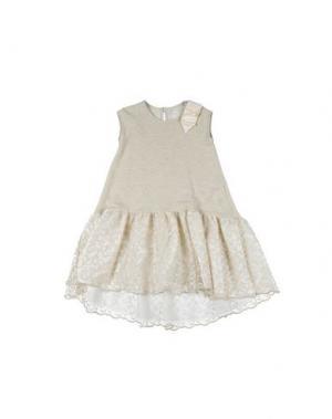 Платье PARROT. Цвет: бежевый