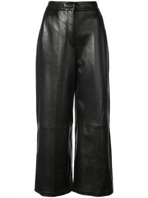 Широкие укороченные брюки Barbara Bui. Цвет: чёрный