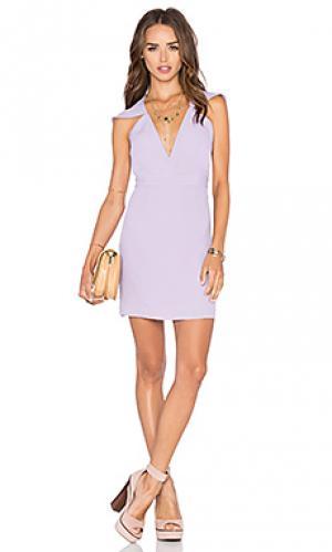 Обтягивающее платье flutter sleeve romance NBD. Цвет: фиолетовый