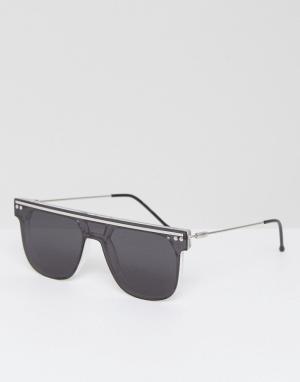 Spitfire Квадратные солнцезащитные очки-маска NY2K. Цвет: черный