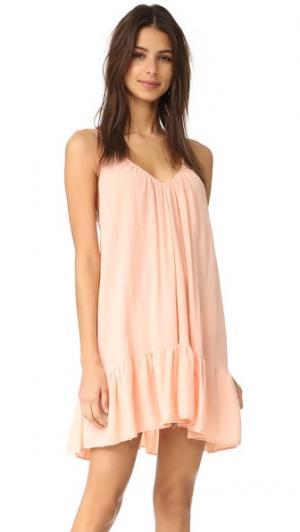 Мини-платье с оборками St Tropez 9seed. Цвет: розовое золото