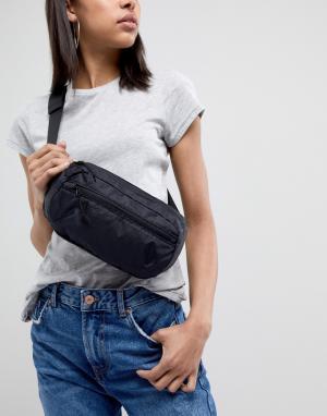 Weekday Черная сумка-кошелек на пояс. Цвет: черный