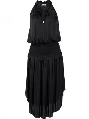 Платье с асимметричный подолом Ulla Johnson. Цвет: чёрный