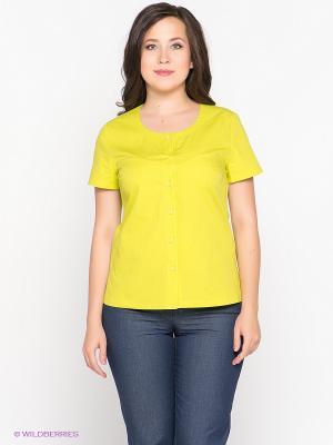 Блузка D`imma. Цвет: желтый