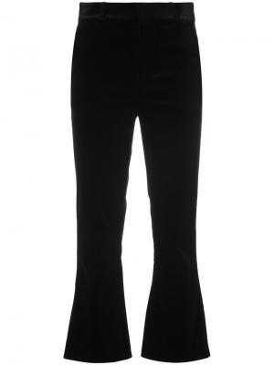 Cropped velvet trousers Frame Denim. Цвет: чёрный