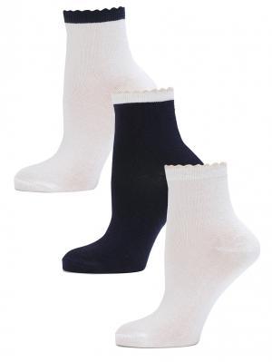 Носки LARMINI. Цвет: темно-синий, кремовый