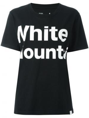 Толстовка с принтом-логотипом и короткими рукавами White Mountaineering. Цвет: чёрный