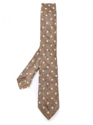 Фактурный галстук Al Duca D'Aosta 1902. Цвет: коричневый
