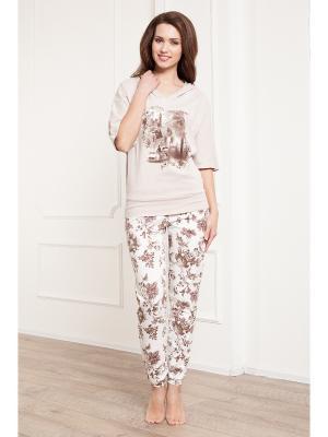 Комплект одежды CLEO. Цвет: темно-бежевый, молочный