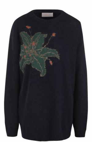 Пуловер свободного кроя с цветочным принтом Tak.Ori. Цвет: синий
