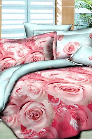 Постельное белье Евро 70x70 Patrizia. Цвет: розовый