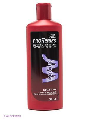 Шампунь COLOR, для окрашенных волос, 500 мл WELLA Pro Series. Цвет: красный